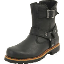 Harley Davidson Men's Sandfield Black Harness Riding Boots Shoes
