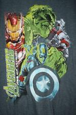 Marvel Avengers Mens T-shirt Size M Age of Ultron Hulk, Iron-Man, Thor Captain
