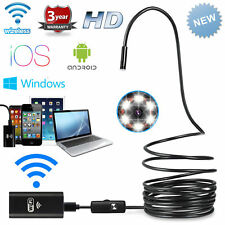 1-10m 8mm 6LED Wifi Android Endoscope Camera Waterproof Inspection USB Video Cam