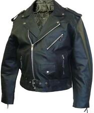 NEW MENS MOTORCYCLE BRANDO LEATHER JACKETS ALL SIZES