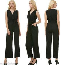 Women's Solid Wide Leg Dress Jumpsuit Pant Suit Mesh Chiffon Long Sleeve Plus