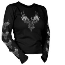 Motorhead Phoenix Motor Ladies Junior Cut Black Long Sleeve T Shirt 5 Sizes fnt