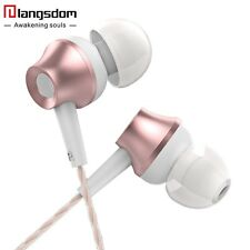 Langsdom Super Bass Metal Earphone with Mic &Remote Earbuds for 3.5mm Cellphones
