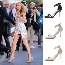 Fashion Women Strappy Stiletto High Heel Sandals Ankle Strap Cuff Peep Toe Shoes
