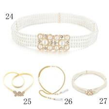 Chic Womens Crystal Rhinestone Belt Pearl Chain Belt Hip Waist Belt Dress Prom