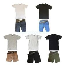 T-shirt Shorts Belt Accessory for 1/6 12'' Male Action Figure Hot Toys Enterbay