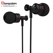 Langsdom HM Metal Earphone Earbuds 3.5mm In-Ear Hifi Sound Earbuds for phone Mp3