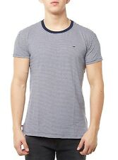 NEW TOMMY HILFIGER T-SHIRT MEN'S THDM CN KNIT S/S 8 DARK BLUE/WHITE BLUE MEN