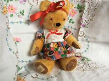 Vintage Antique Old Chad Valley Bear with fioot label
