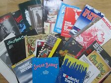 Large & Interesting selection of Theatre Programmes from the 1980's
