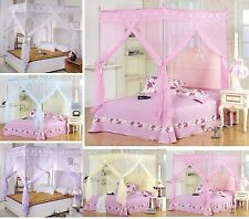 Princess 4 Corner Post Bed Canopy Mosquito Netting Or Frame Post Twin Full Queen