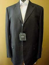 MSJ28  MEN'S 2 PIECE SUIT -Abito Sartoriale-Tasmania -Black Pin Stripe