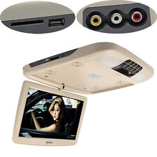 12 Inch Flip Down TFT LCD Monitor With DVD Player Car Roof Mount MP5 Player 12V