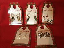 Christmas, Holiday Earrings, Your Choice, Snowman, trees, Angels<Hypo-Allergenic
