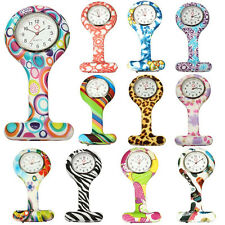 Numer Pattern Silicone Nurses Brooch Tunic Fob Pocket Watch Stainless Dial Witty