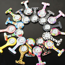 Numer Pattern Silicone Nurses Brooch Tunic Pocket Watch Stainless Dial Refined