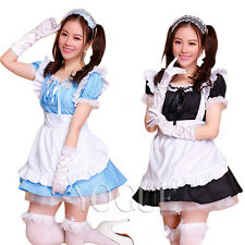 Women's French Maid Servant Uniform Costume Dress Cosplay Lolita Sexy lingerie