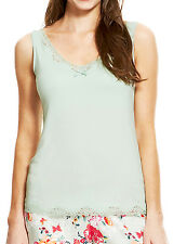 Womens Camisole Vest Top Size 8 10 New Ladies MnS Green Secret Support stretchy