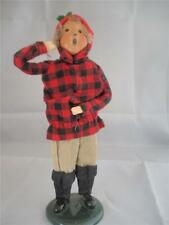BYERS' CHOICE BOY CAROLER LUMBERJACK - MISSING ITEMS  - FIGURE GREAT SHAPE!