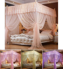 Princess 4 Corner Post Bed Canopy Mosquito Netting Twin Full Queen Sizes
