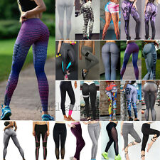 Womens Sports Fitness Leggings Gym Yoga Workout Running Stretchy Pants Trousers