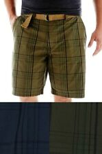 The Foundry Supply Mens Big Tall Shorts Belted Cotton Plaid size 46 48 NEW