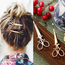 Fashion Women Gold/Silver Plated Pearl Charm Hairpin Hair Clip Hair Accessorie