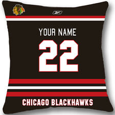 Custom zippered Chicago Blackhawks Pillow Case With Your Name and Number L891