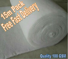 15 m2 Weed Suppression Weed Control Fabric Geo Textile Membrane 2.25x6.66m Roll