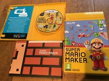 Wii u super mario maker games disc and art book