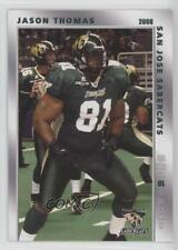 2008 Grandstand San Jose SaberCats #JATH Jason Thomas (AFL) Football Card