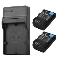 2x 2650mAh LP-E6 Battery + Charger for Canon EOS 5DS R 5D Mark II Mark III 6D 7D