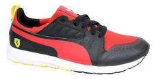 Puma Pitlane SF Junior Lace Up Black Red Synthetic Trainers 360885 02 D39