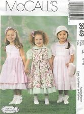 McCall's 3882 Girls' Dresses, Pinafore and Petticoat 6, 7, 8   Sewing Pattern