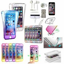 Slim Soft Full Body Clear Gel Case Cover Earphones Charger Accessory For iPhone