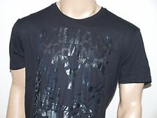 Armani Exchange Authentic Deconstructed Logo T Shirt Black NWT