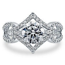 BERRICLE Sterling Silver Round Cut CZ Solitaire Engagement Ring 2.65 Carat