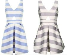 TOPSHOP LUXE SATIN STRIPED CUTOUT DRESS BLOG FAV. PROM /PARTY /GOINGOUT  6-14