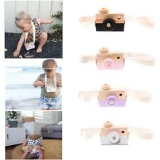 Cute Wooden Toy Camera Kids Girls Boys Creative Neck Camera Photo Props Decors