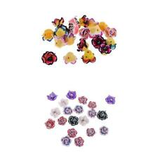 20Pcs Sweet Colorful Rose Flower Polymer Clay Beads for Jewelry Finding Makings