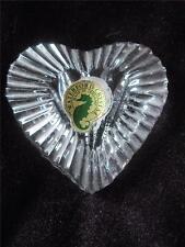 WATERFORD CUT CRYSTAL HEART PAPERWEIGHT/ HAND WARMER ETCHED WATERFORD - FOIL TAG