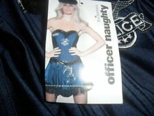 """WOMANS ANN SUMMERS  """"OFFICER NAUGHTY POLICE  FANCY DRESS COSTUME NEW WITH TAGS"""