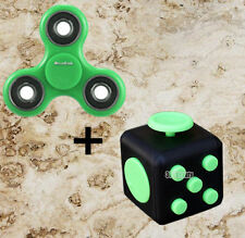 Hand Spinner + Fidget Cube Anxiety Stress Relief Focus Desk Toy Gift Adults SSS+