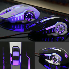 4000DPI Optical Adjustable 6D Button Wired Gaming Game Mice for Laptop PC
