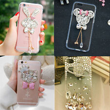 Handmade Luxury Bling Glitter Diamond 3D Rhinestones Crystal Clear Case Cover