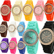 Wholesale Women Fashion Candy Color Silicone Strap Quartz Wrist Watch Calm Lot