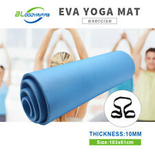 10MM Thick EVA Yoga Mat Non-slip Durable Exercise Fitness Gym Mat Pad 3 Colours