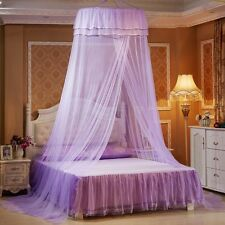Round Lace Curtain Mosquito Net Dome Bed Canopy Netting Princess Elegant Room