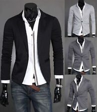 Stylish Mens Casual Slim Fit Formal One Button Suit Blazer Coat Jacket Tops U