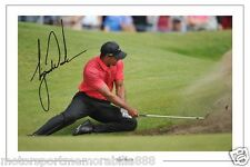TIGER WOODS OPEN GOLF AUTOGRAPH SIGNED  6x4 PHOTO PRINT PGA